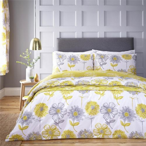 Catherine Lansfield Banbury Floral Yellow Bedding Set